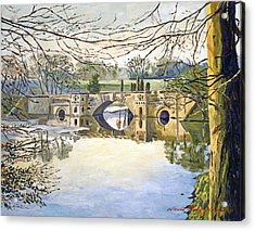 Stone Bridge Acrylic Print by David Lloyd Glover