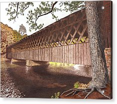 Stone Mountain Covered Bridge Acrylic Print by Cloud Farrow
