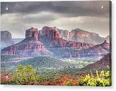 Storm Clouds Red Rocks Acrylic Print