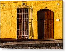 Sunny Yellow Wall Acrylic Print