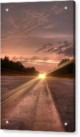 Sunset High Beams 2 Acrylic Print by David Paul Murray