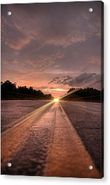 Sunset High Beams Acrylic Print by David Paul Murray