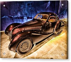 Acrylic Print featuring the photograph  Talbot Lago 1937 Car Automobile Hdr Vehicle  by Paul Fearn