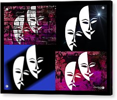 Thalia And Melpomene Acrylic Print