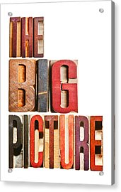 The Big Picture Acrylic Print by Donald  Erickson