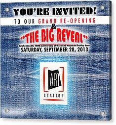 The Big Reveal Acrylic Print