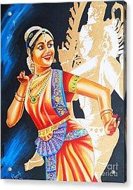 Acrylic Print featuring the painting  The Dance Divine by Ragunath Venkatraman