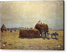 The Harvest Acrylic Print by Pierre-Georges Dieterle