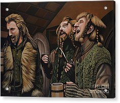 The Hobbit And The Dwarves Acrylic Print
