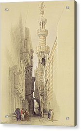The Minaret Of The Mosque Of El Rhamree Acrylic Print by David Roberts