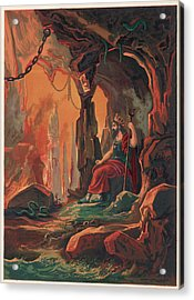 The Ruler Of The Underworld Acrylic Print by Mary Evans Picture Library