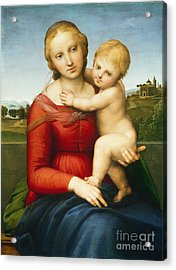 The Small Cowper Madonna Acrylic Print by Raphael Raffaello Sanzio of Urbino