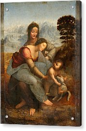 The Virgin And Child With St. Anne Acrylic Print by Leonardo Da Vinci