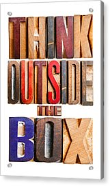 Think Outside The Box Acrylic Print by Donald  Erickson