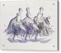 Three Kings Dancing A Jig Acrylic Print by Joanna Logan