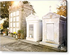 Acrylic Print featuring the photograph   Tombstones  by Erika Weber