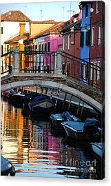 Torcello Color Two Acrylic Print by Jacqueline M Lewis