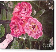 Acrylic Print featuring the painting  Touch Of The Roses Painting by Kimberlee Baxter