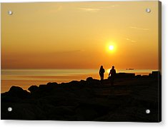 Two At Sunset Acrylic Print by Gynt