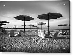 Umbrellas On The Beach Acrylic Print