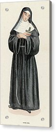 Ursuline Nun Devoted To Saint Ursula Acrylic Print by Mary Evans Picture Library