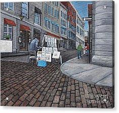 Vendeur Sur La Rue Vieux Montreal Acrylic Print