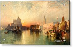View Of Venice Acrylic Print by Thomas Moran