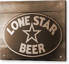 Vintage Sign Lone Star Beer Acrylic Print