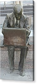 Acrylic Print featuring the photograph  Wall Street Memorial Statue by John Telfer