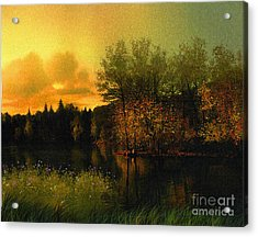 Warm Waters Acrylic Print by Robert Foster