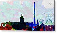 Washington Dc City Skyline 2 Acrylic Print by Naxart Studio