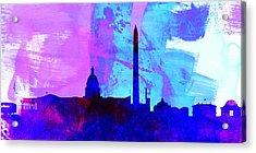 Washington Dc City Skyline Acrylic Print by Naxart Studio
