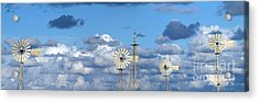 Water Windmills Acrylic Print by Stelios Kleanthous
