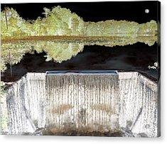 Waterfall 1 Acrylic Print by Dietrich ralph  Katz