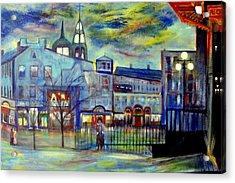 When Night Falls   Quebec City Acrylic Print by Rick Todaro