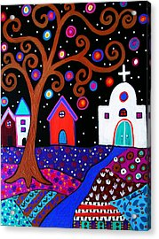 Whimsical Town Acrylic Print by Pristine Cartera Turkus
