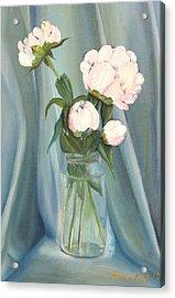 White Flower Purity Acrylic Print
