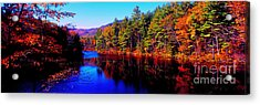Acrylic Print featuring the photograph  White Mountians National Park Red Eagle Pond New Hampshire by Tom Jelen