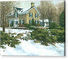 Winter's Retreat   Acrylic Print by Michael Swanson