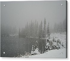 You Can Almost Hear The Snow In This Peace  Acrylic Print