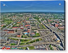 0014 Visual Highs Of The Queen City Acrylic Print by Michael Frank Jr