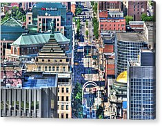 0024 Visual Highs Of The Queen City ...main St... Acrylic Print by Michael Frank Jr