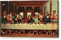 0030s The Last Supper After Leonardo Da Acrylic Print