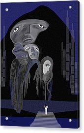 004 - Arrival Of The Gods  Acrylic Print by Irmgard Schoendorf Welch