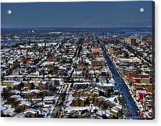 0043 After The Nov 2014 Storm Buffalo Ny Acrylic Print by Michael Frank Jr