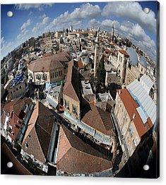 005 Globus Of Jerusalem Acrylic Print by Alex Kolomoisky