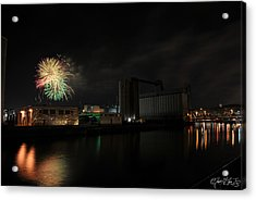005 ...the Bombs Bursting In Air...4jul13 Series Acrylic Print by Michael Frank Jr