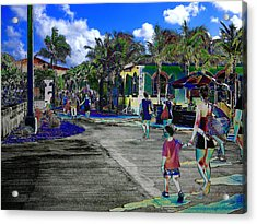 St Croix Stencil  Acrylic Print