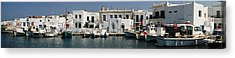 0084246 - Paros - Naousa Acrylic Print by Costas Aggelakis
