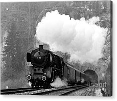01 150 On Tracks In Franconia Acrylic Print by Joachim Kraus